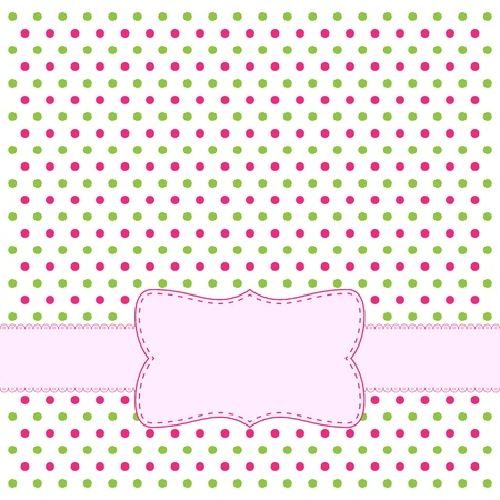 Polka dot design frame for invitation