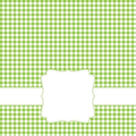 Green retro frame