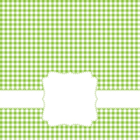 on the tablecloth: Green retro frame
