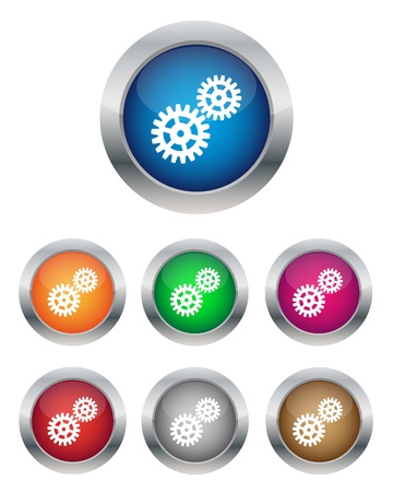 Settings buttons Stock Vector - 12483085
