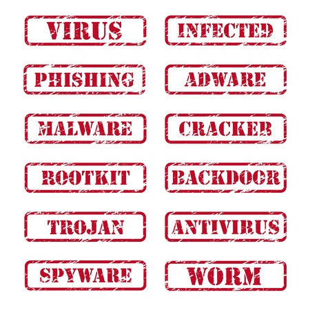 Computer security stamps Vector