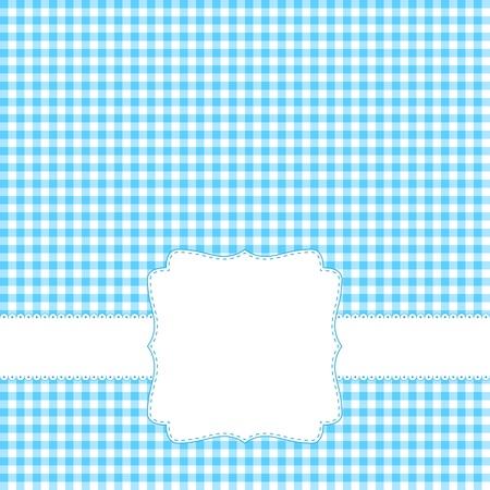 空白のラベルが付いた青いカード