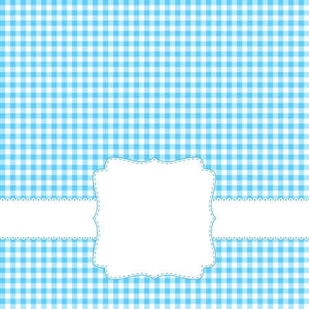 Blue card with blank label Stock Vector - 12763799