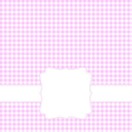 Pink card with blank label Stock Vector - 12763800