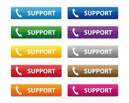 hotline: Support-Tasten Illustration