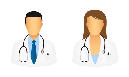 medical computer: Doctor icons Illustration