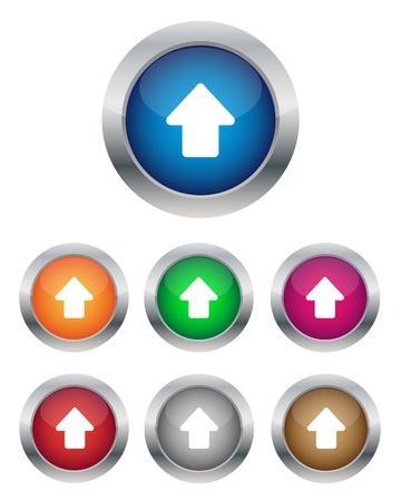 矢印ボタンを  イラスト・ベクター素材