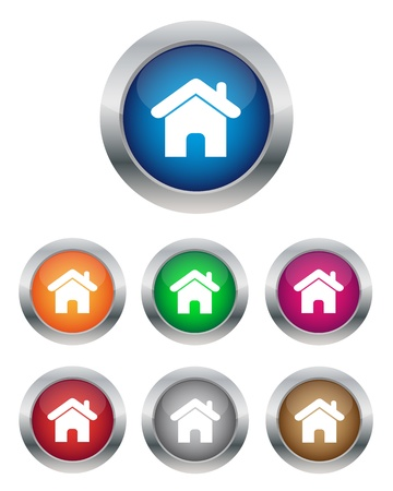 Home buttons Stock Vector - 13923561