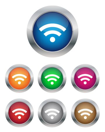Wifi buttons Stock Vector - 14202691
