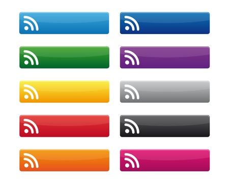 RSS ボタン  イラスト・ベクター素材