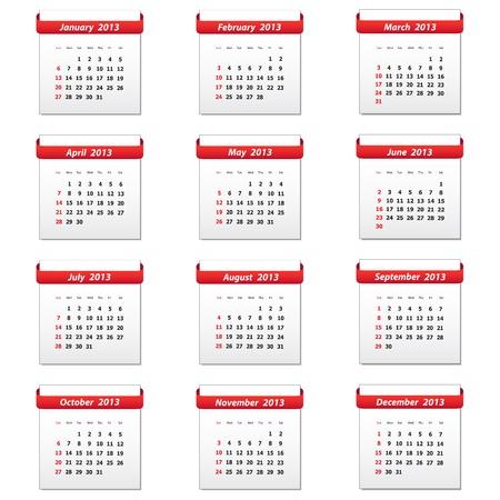 Calendar 2013 Иллюстрация