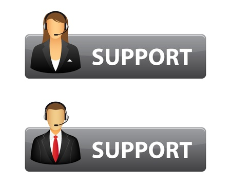 call center agent: Support buttons