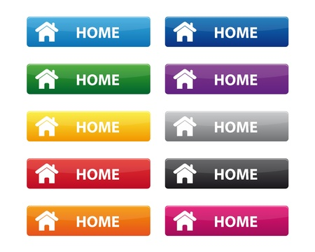 Home buttons Stock Vector - 16086657