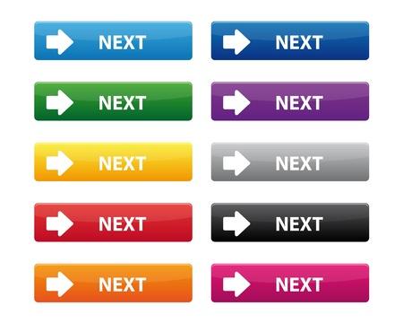 Next buttons Stock Vector - 16820033