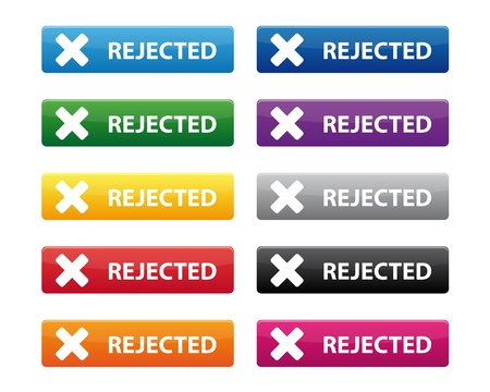 Rejected buttons Stock Vector - 16878101