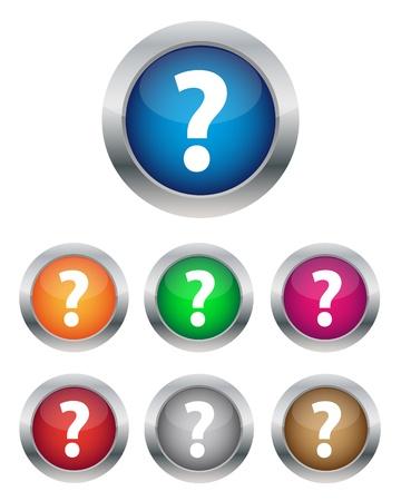 FAQ buttons Stock Vector - 17419275