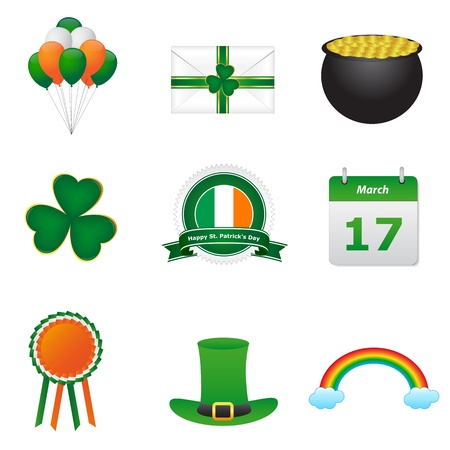 St patrick day icons Ilustrace