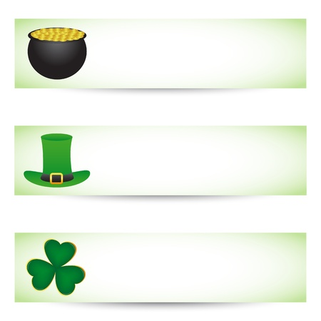 St. patrick's day banners Stock Vector - 17964914