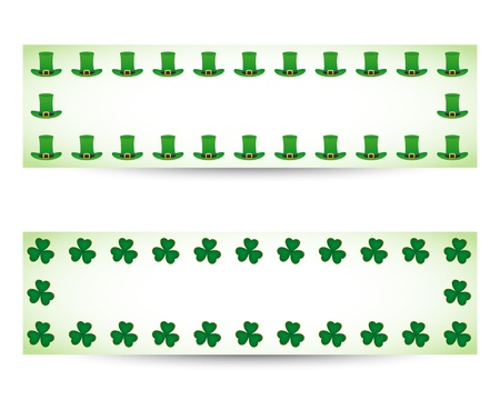 St. patricks day banners Vector