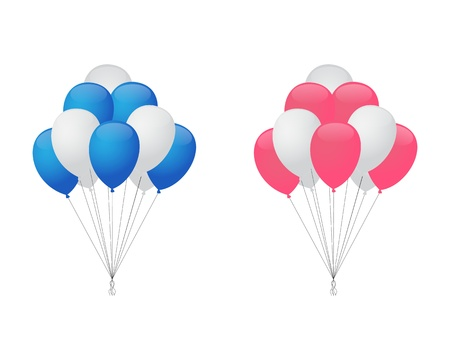 Balloons for boy and girl Vector