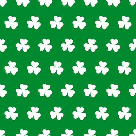 Shamrock seamless background Vector