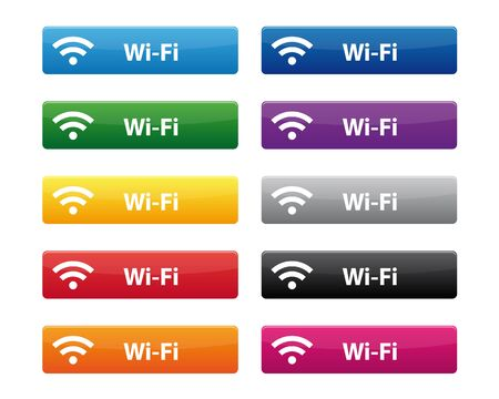 wi fi icon: Wi-Fi buttons Illustration