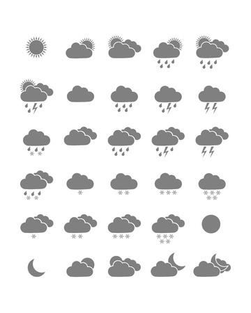 weather symbols: Weather icons Illustration