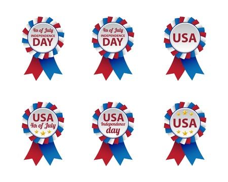 Independence day badges Ilustrace