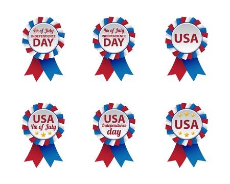 cockade: Independence day badges Illustration