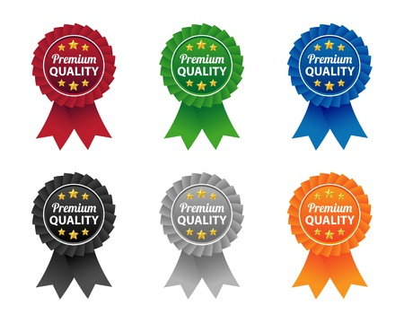 Premium quality labels Stock Vector - 19620917