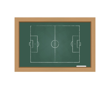 Chalkboard with a football field Vector