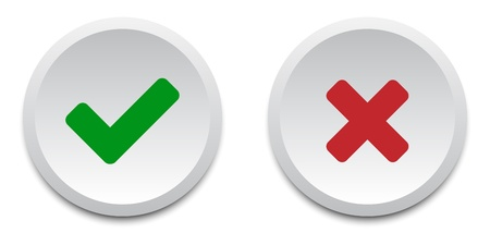 permission granted: Validation buttons Illustration