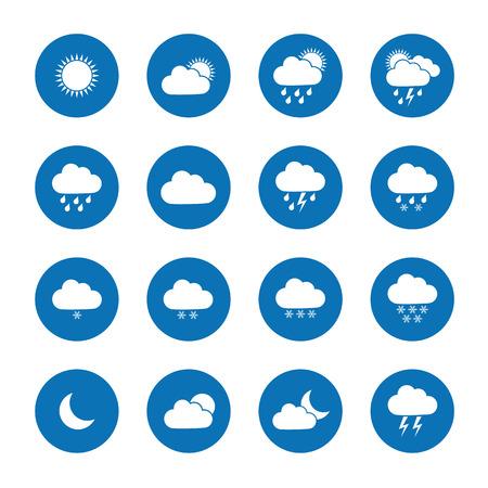 rain storm: Flat weather icons