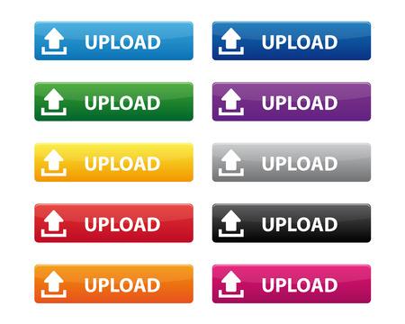 orange arrow: Upload buttons Illustration