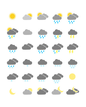 Colorful weather icons Vector