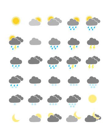 Kleurrijke weer iconen