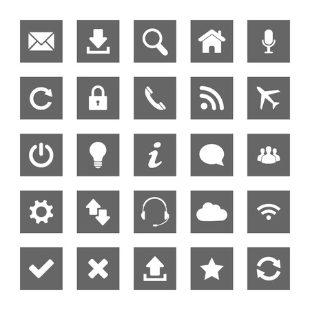 application recycle: Grey Web icons Illustration