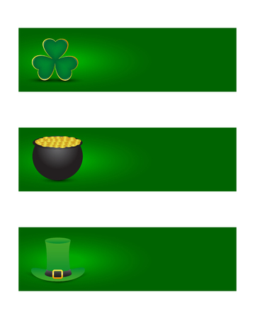 saint patrick's day: St  patricks day banners