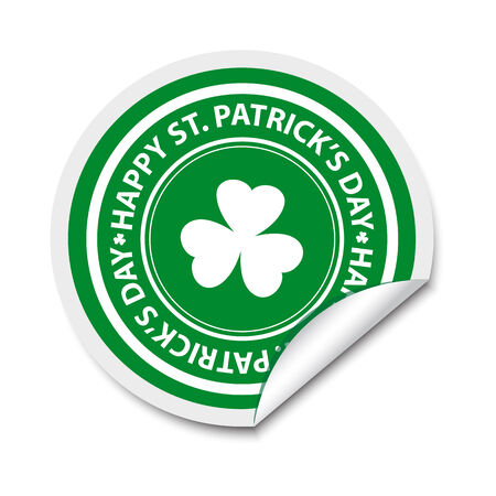 St Patricks day stickers Vector