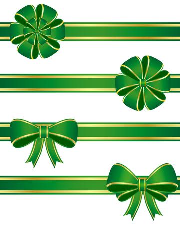 Green bows Vector