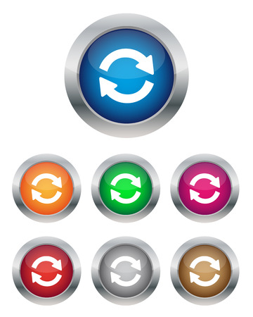 Synchronization buttons Vector