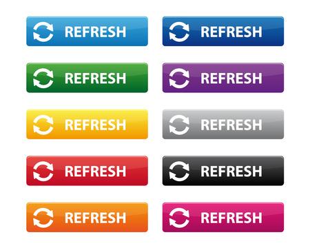 web buttons: Refresh buttons