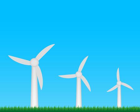 windpower: Wind turbines farm