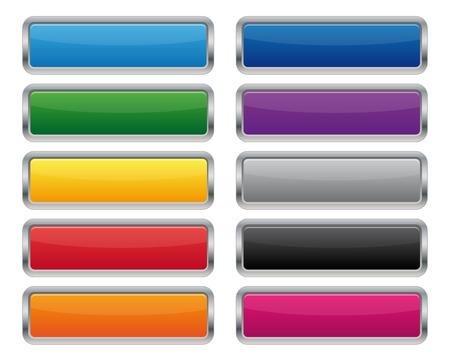 Boutons rectangulaires métalliques Banque d'images - 27535613