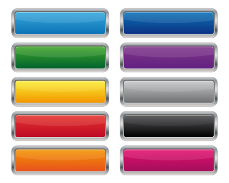 shiny buttons: Metallic rectangular buttons