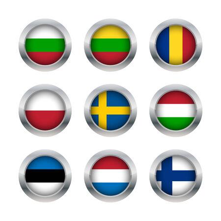 rumanian: Flag buttons set 3