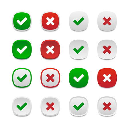 validation: Rounded square validation buttons