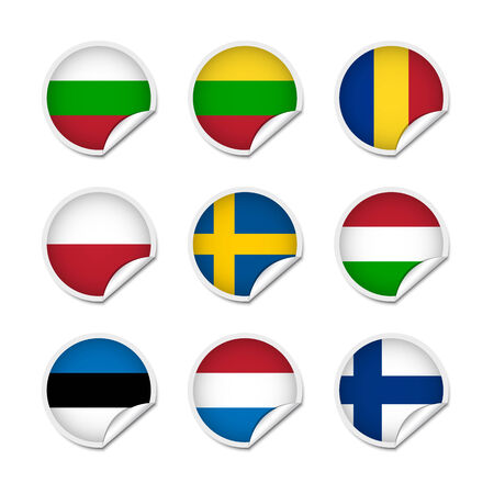 rumanian: Flag stickers set 3