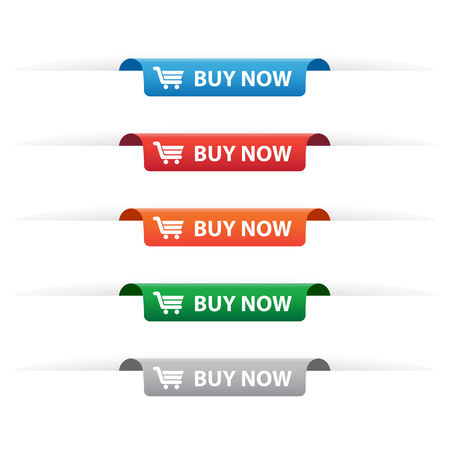 Buy now paper tag labels Vector