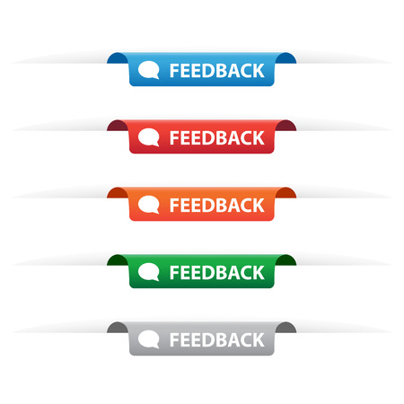 bookmark ribbon: Feedback paper tag labels
